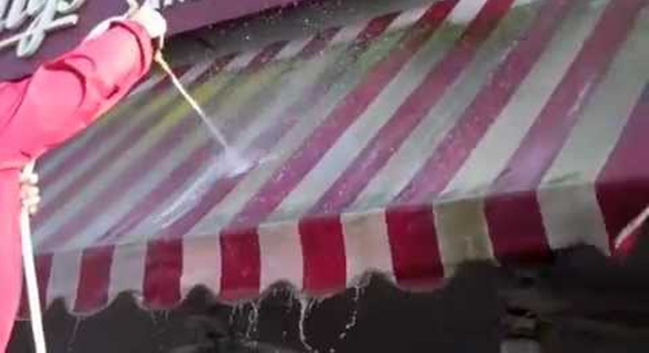 Use Standard Awning Cleaners