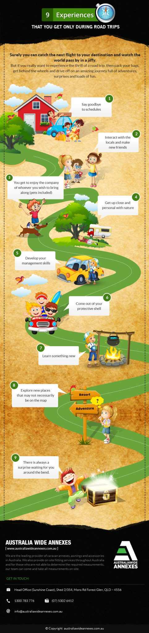infographic 9 Experiences During Road Trips