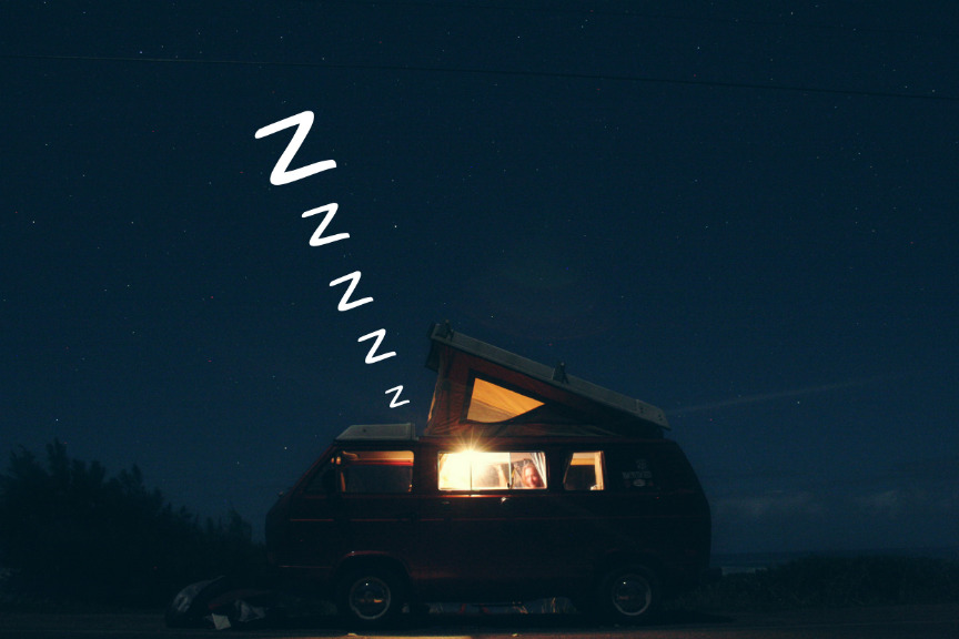 Night Driving on a Camping Trip